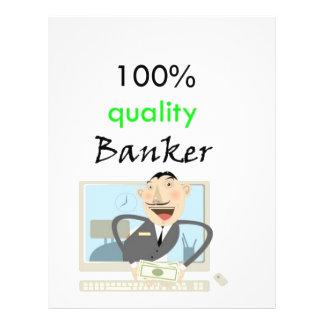 100% quality banker flyer