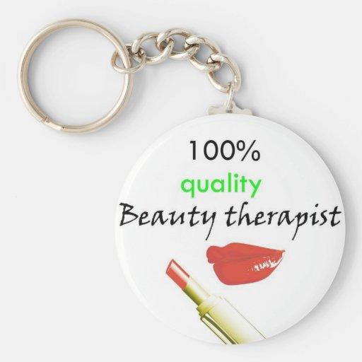 100% quality beauty therapist keychain