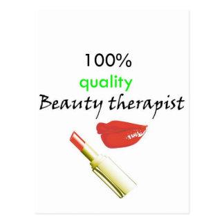 100% quality beauty therapist postcard