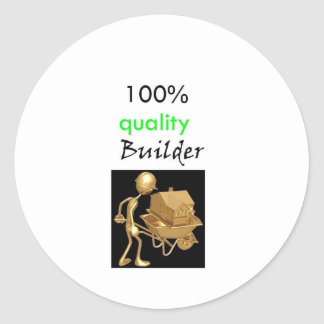 100% quality builder classic round sticker