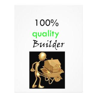 100% quality builder custom flyer