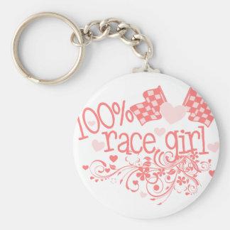 100% Race Girl Key Ring