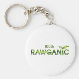 100% Rawganic Raw Food Basic Round Button Key Ring