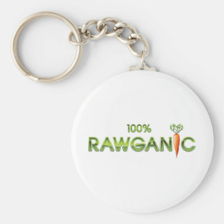100% Rawganic Raw Food - Carrot Basic Round Button Key Ring