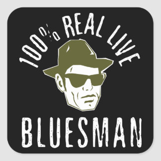 100% Real Live Bluesman Dark Sticker