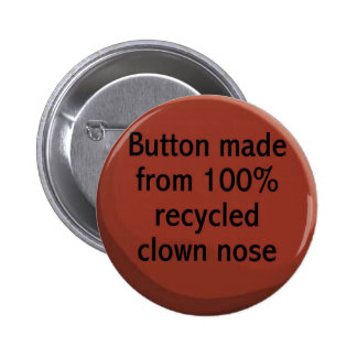 100 recycled clown nose Button