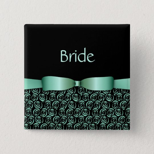 100 Rosettes Wedding Buttons - Aquamarine