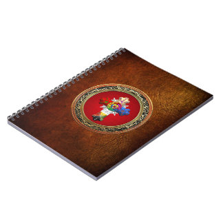 [100] Rosy Cross (Rose Croix) on Red & Gold Notebook