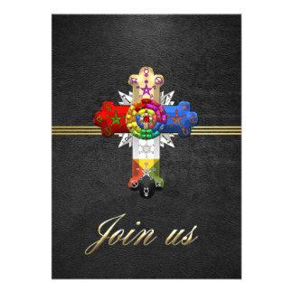 100 Rosy Cross Rose Croix Personalized Invite