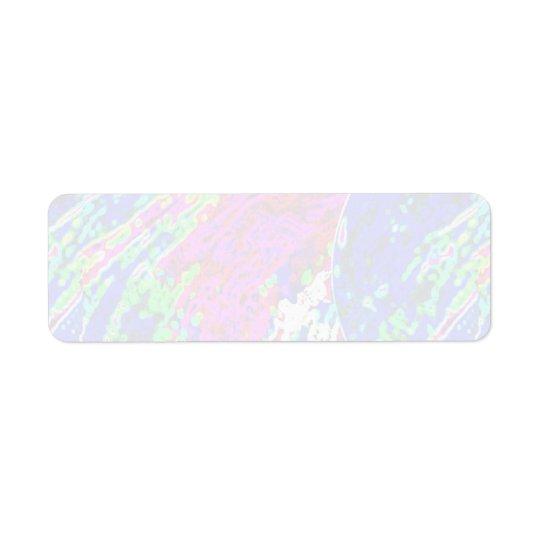 100 Shades :  Artistic Soft Colour Patterns Return Address Label