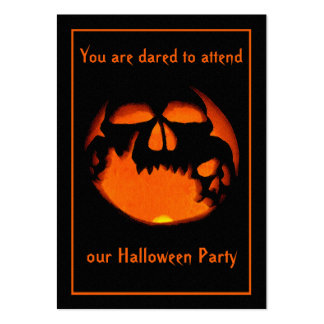 100 Skull Jack O' Lantern Halloween Party  Invites Business Card