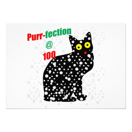 100 Snow Cat Purr-fection Custom Invitation