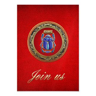 [100] Treasure Trove: Ancient Egyptian Scarab 13 Cm X 18 Cm Invitation Card
