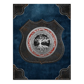 [100] Treasure Trove: Celtic Tree of Life [Silver] Postcard
