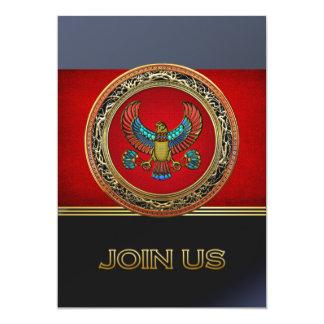 [100] Treasure Trove: Egyptian Falcon 13 Cm X 18 Cm Invitation Card