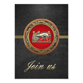 [100] Treasure Trove: The Eye of Horus 13 Cm X 18 Cm Invitation Card