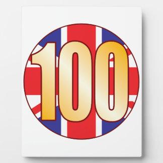 100 UK Gold Plaque