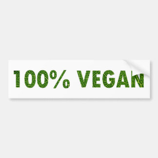 100% Vegan Bumper Sticker