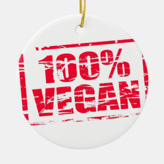 100% vegan christmas ornament