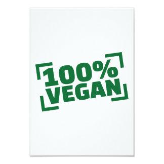 "100% Vegan 3.5"" X 5"" Invitation Card"