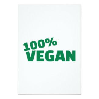 100% Vegan 9 Cm X 13 Cm Invitation Card