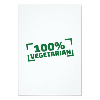 "100% Vegetarian 3.5"" X 5"" Invitation Card"