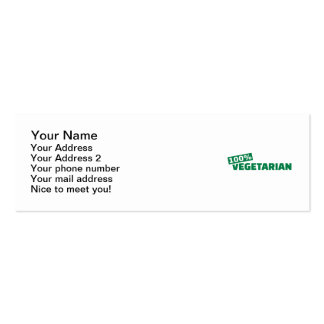 100% Vegetarian Pack Of Skinny Business Cards