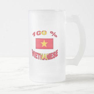 100% Vietnamese Frosted Glass Mug
