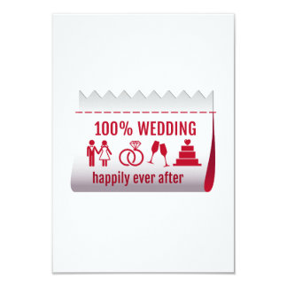 100 % wedding, happily ever after, invitation card