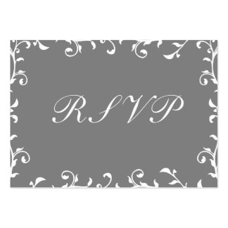 100 Wedding RSVP Cards, Black Translucent Template Pack Of Chubby Business Cards