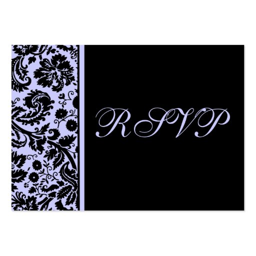 100 Wedding RSVP Cards, Select Background Color Business Card Templates