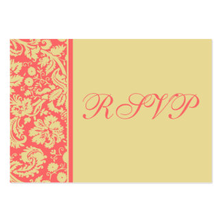 100 Wedding RSVP Cards, Select Background Color Pack Of Chubby Business Cards