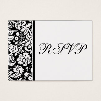 100 Wedding RSVP Cards, Select Background Color Business Card