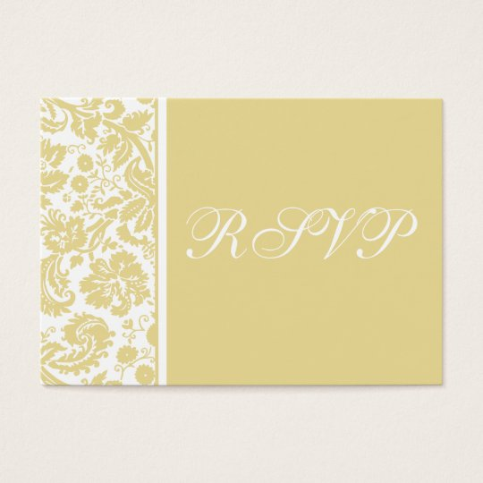 100 Wedding RSVP Cards, Select Background Colour Business Card