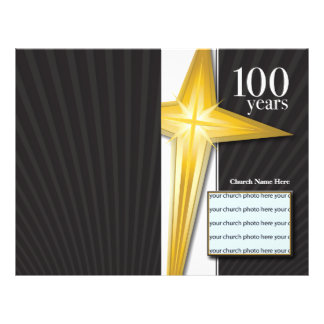 100 Year Church Anniversary Bulletin 21.5 Cm X 28 Cm Flyer