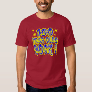 100 Year Olds Rock! (Blue) T-shirt