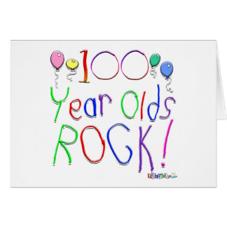 100 Year Olds Rock Greeting Cards
