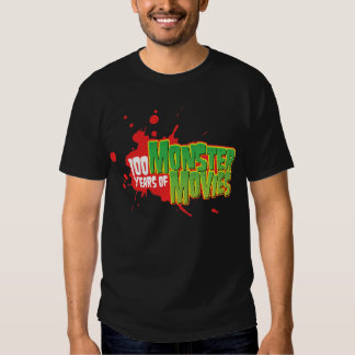 100 Years Of Monster Movies Tee Shirts