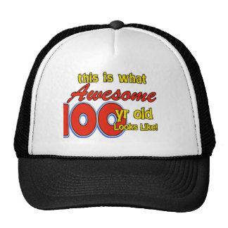 100 YEARS OLD BIRTHDAY DESIGNS CAP