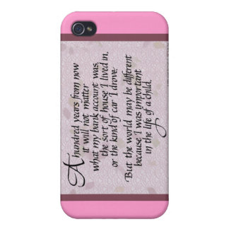 100 Years Quote iPhone Case iPhone 4 Cases