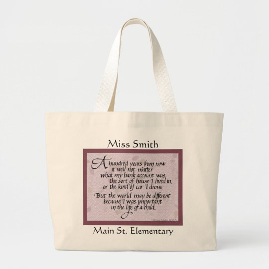100 Years Quote Teacher Tote Bag