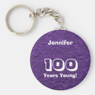 100 Years Young Purple Dolls Keychain (Key Chain)