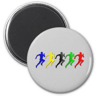 100m 200m 400m 800m Runners Running Run 6 Cm Round Magnet