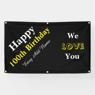 100th Birthday Banner