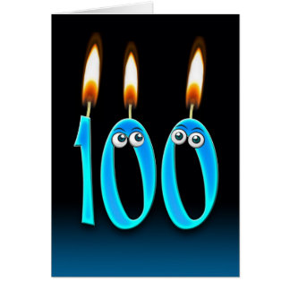 100th Birthday Candles Greeting Card