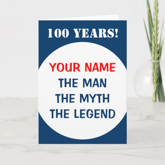 100th Birthday Card For Men