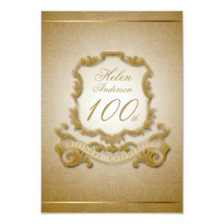 100th Birthday Celebration Custom Vintage Frame 9 Cm X 13 Cm Invitation Card
