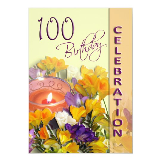100th Birthday Celebration party invitation