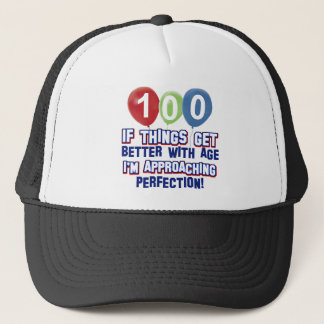 100th birthday designs trucker hat
