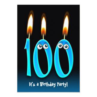100th Birthday Party 13 Cm X 18 Cm Invitation Card